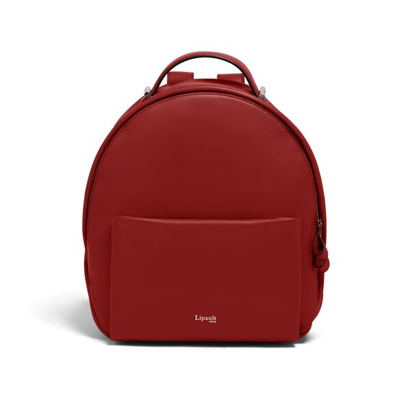 Lipault By The Seine Nano Backpack in the color Cherry Red.