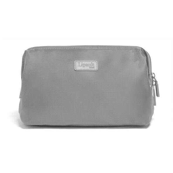 """Lipault Travel Accessories 12"""" Toiletry Kit in the color Pearl Grey."""