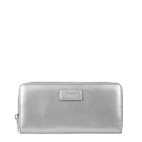 Lipault Miss Plume Zip Around Wallet in the color Silver.