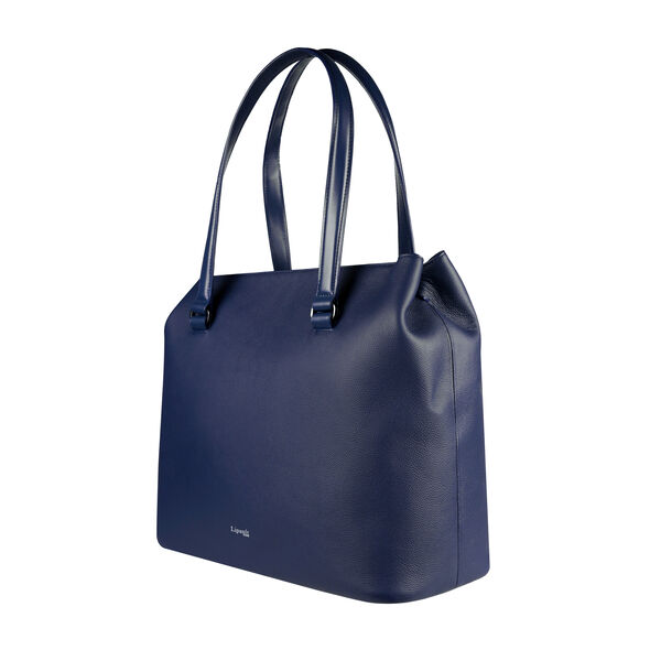 Lipault Plume Elegance Large Tote Bag in the color Navy Leather.