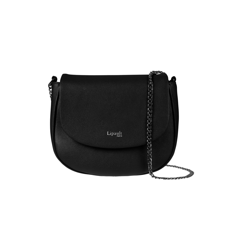 8c4c946f2d24 Lipault Plume Elegance Saddle Bag in the color Black Leather.