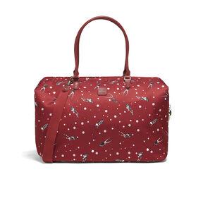 Lipault Izak Zenou Weekend Bag M in the color Pose/Garnet Red.