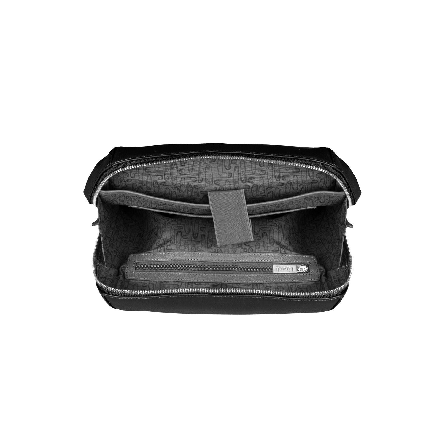 ae2a3d86c4b7 Lipault Plume Elegance Laptop Backpack M in the color Black Leather.