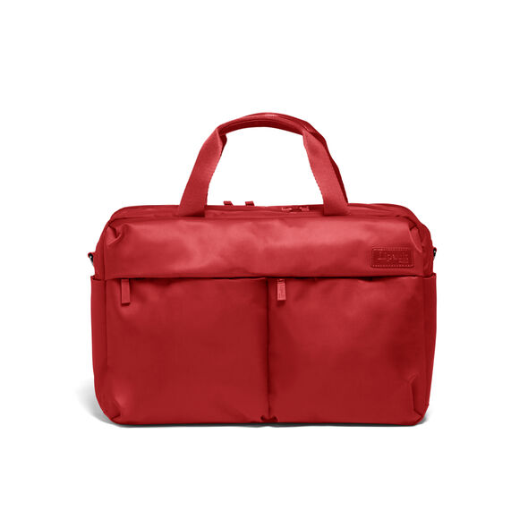 Lipault City Plume 24 Hour Bag in the color Cherry Red.