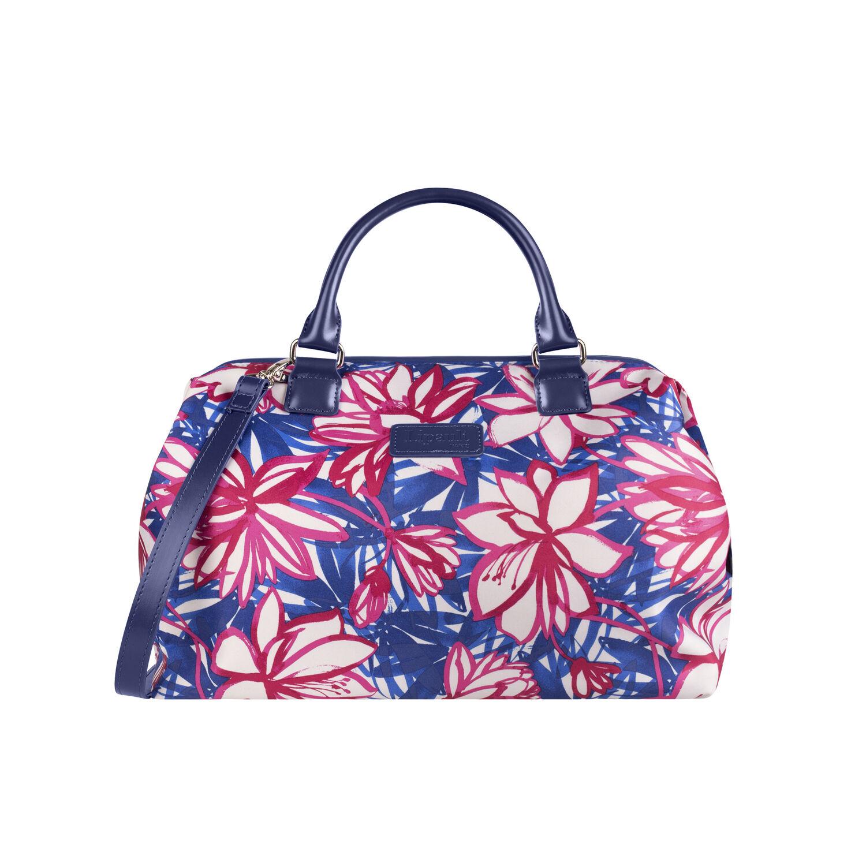 Lipault Blooming Summer Bowling Bag M Doctor Handbag In The Color Flower Pink Blue