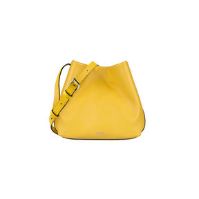 Lipault By The Seine Bucket Bag in the color Lemon Yellow.