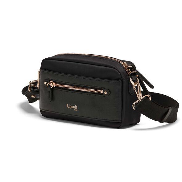 Lipault Plume Avenue Belt Bag in the color Jet Black.