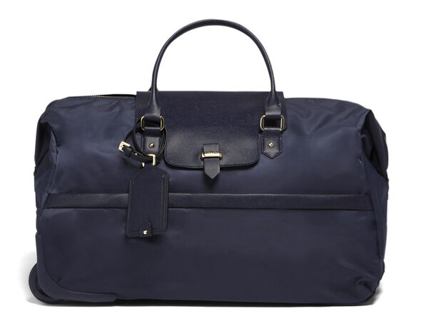 Lipault Plume Avenue Wheeled Duffle Bag in the color Night Blue.