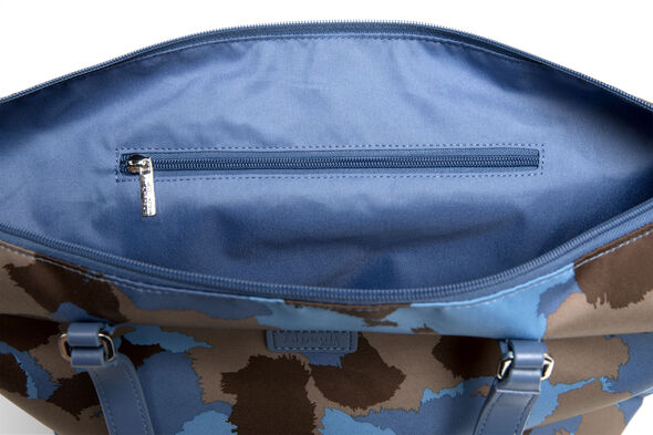 Lipault Frozen Land Medium Tote Bag in the color Camo/Icy Blue/Taupe.