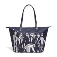Lipault Izak Zenou Tote Bag M in the color Pose/Night Blue.