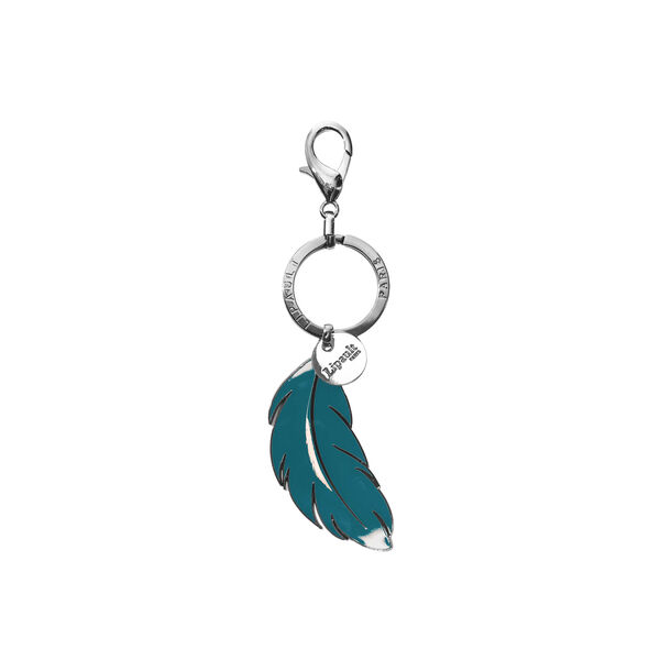 Lipault Plume Accessories Bag Charm - Feather in the color Duck Blue.