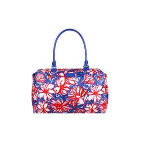 Lipault Blooming Summer Weekend Bag M in the color Flower/Pink/Blue.