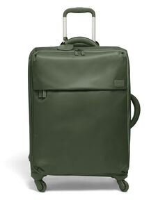 Lipault Original Plume Spinner 65/24 Packing Case in the color Khaki Green.