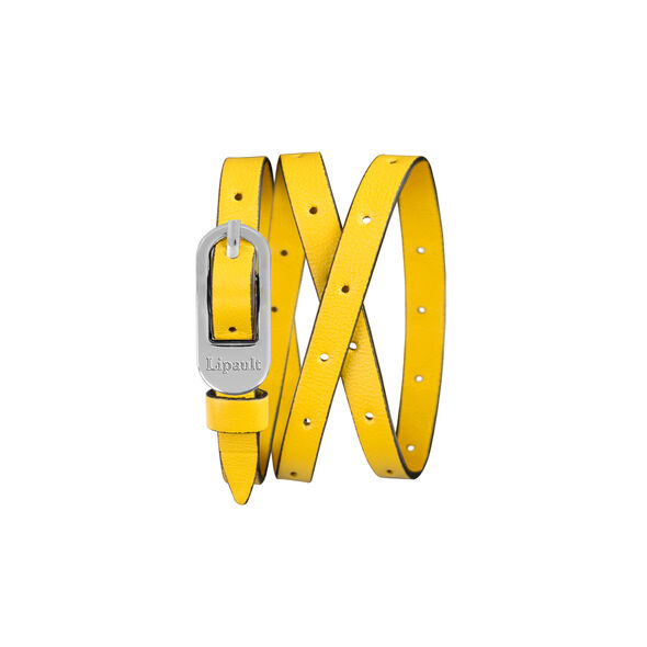 Lipault By The Seine Pin Buckle Bracelet in the color Lemon Yellow.