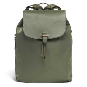 "Lipault Plume Avenue 15"" Laptop Backpack in the color Olive Green."