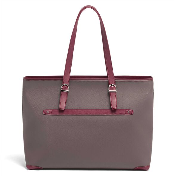 Lipault Variation Shopper in the color Grey/Raspberry.
