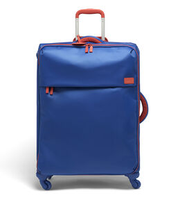 Lipault Original Plume Spinner 72/26 Packing Case in the color Electric Blue/Flash Coral.