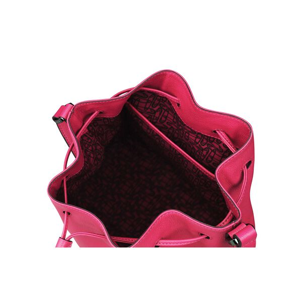 Lipault Plume Elegance Bucket Bag M in the color Tahiti Pink Leather.