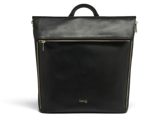 Lipault Rendez-Vous Backpack M in the color Black Leather.