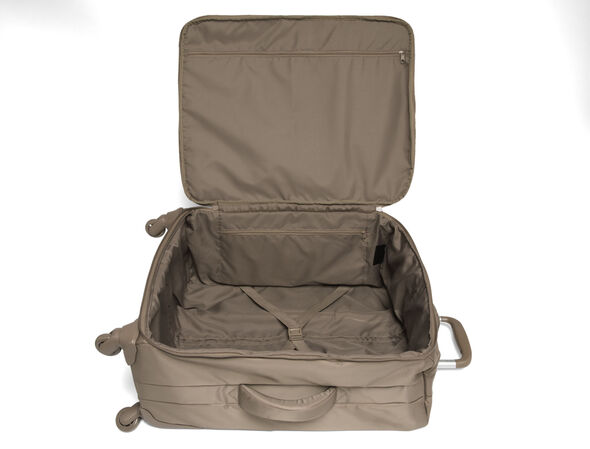 Lipault Original Plume Spinner 65/24 Packing Case in the color Dark Taupe.