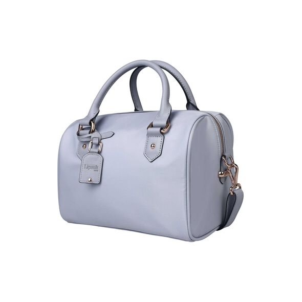 Lipault Plume Avenue Bowling Bag S in the color Mineral Grey.