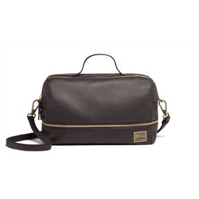 Lipault Jean Paul Gaultier Boston Bag in the color Burgundy.