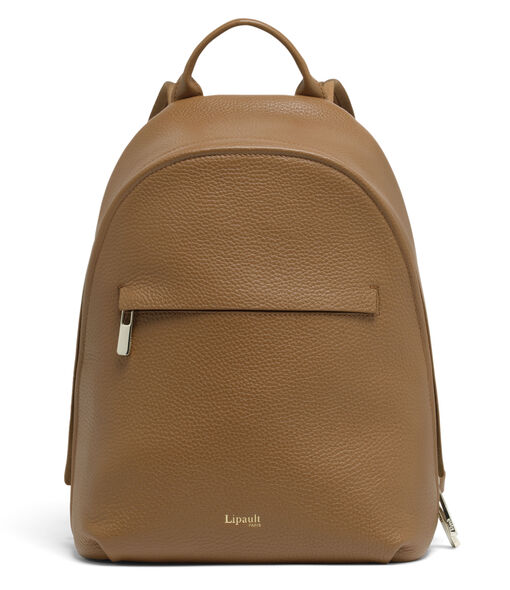 Lipault Invitation Small Round Backpack in the color Caramel.