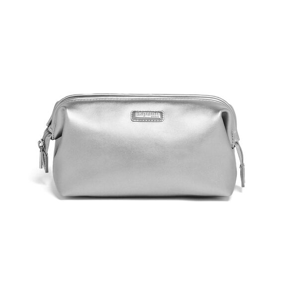 Lipault Miss Plume Toiletry Kit M in the color Titanium.