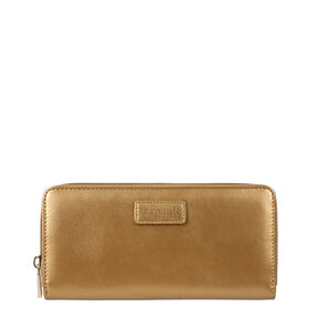 Lipault Miss Plume Zip Around Wallet in the color Dark Gold.