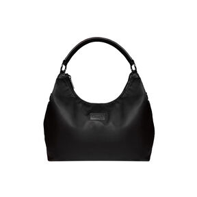 Lipault Lady Plume Hobo Bag M in the color Black.