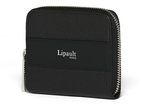 Lipault Invitation Compact Zip Around Wallet in the color Black.