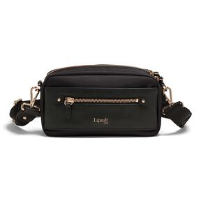 Lipault Plume Avenue Belt Bag in the color Jet Black.