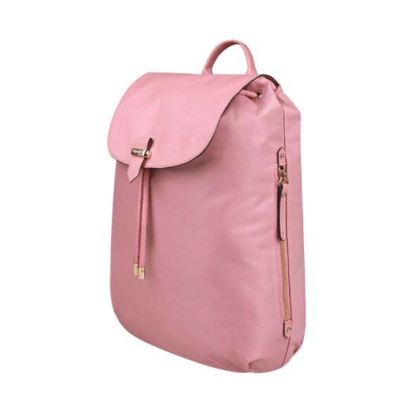 "Lipault Plume Avenue 15"" Laptop Backpack in the color Azalea Pink."