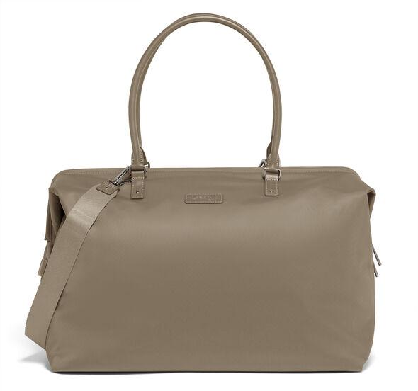 Lipault Lady Plume FL Weekend Bag M in the color Dark Taupe.
