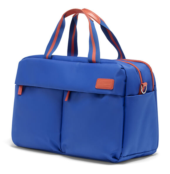 Lipault City Plume 24 Hour Bag in the color Electric Blue/Flash Coral.
