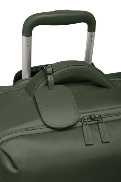 Lipault Original Plume Spinner 55/20 Carry-On in the color Khaki Green.