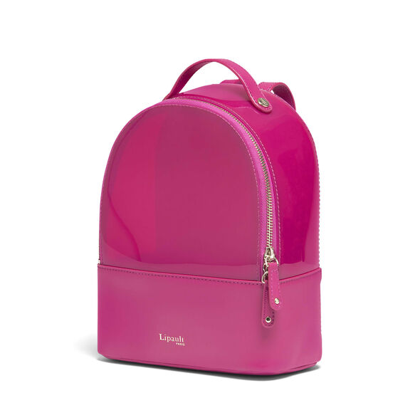 Lipault Pop N Gum Backpack XS in the color Deep Fuchsia.