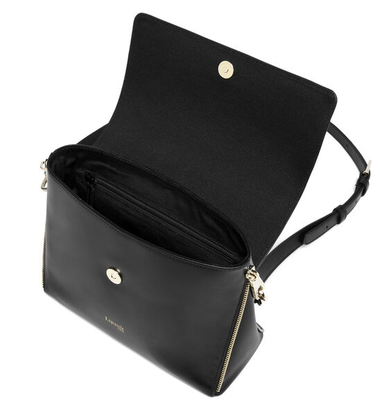 Lipault Rendez-Vous Crossbody Bag in the color Black Leather.