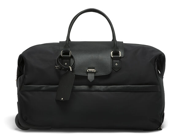 Lipault Plume Avenue Wheeled Duffle Bag in the color Jet Black.