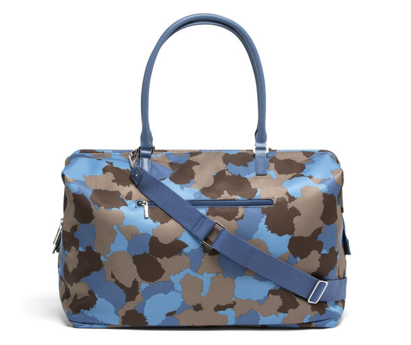 Lipault Frozen Land Medium Weekend Bag in the color Camo/Icy Blue/Taupe.