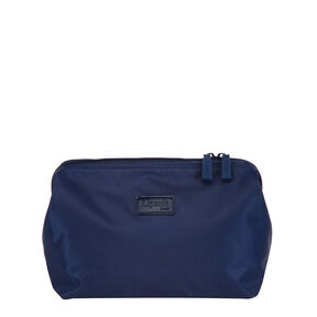 """Lipault Plume Accessories 12"""" Toiletry Kit in the color Navy."""