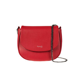 Lipault Plume Elegance Saddle Bag in the color Ruby Leather.