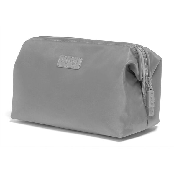 """Lipault Plume Accessories 12"""" Toiletry Kit in the color Pearl Grey."""