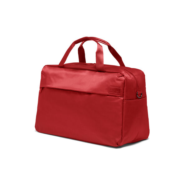 Lipault City Plume Duffle Bag in the color Cherry Red.