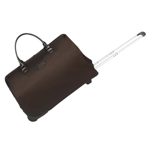 Lipault Lady Plume Wheeled Weekend Bag in the color Chocolate.