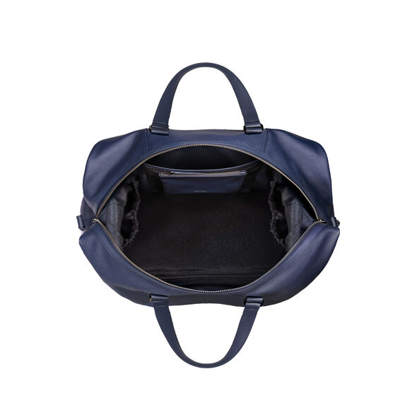 Lipault Plume Elegance Weekend Bag in the color Navy Leather.