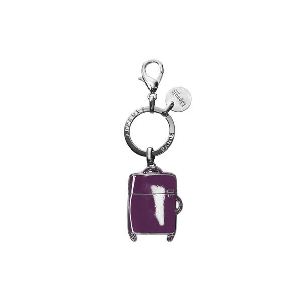 Lipault Plume Accessories Bag Charm - Spinner in the color Purple.