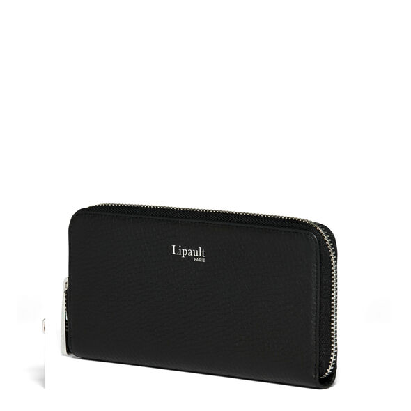 Lipault Invitation Zip Around Wallet in the color Black.