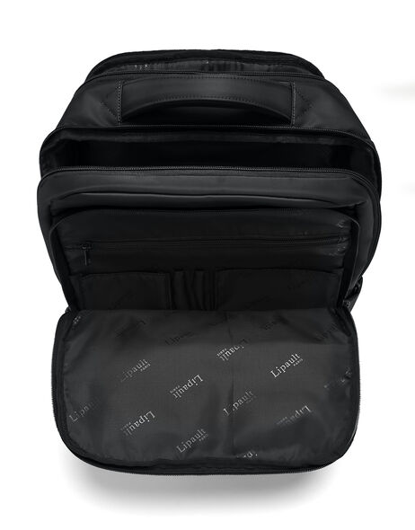 Lipault Plume Business Large Laptop Backpack in the color Black.