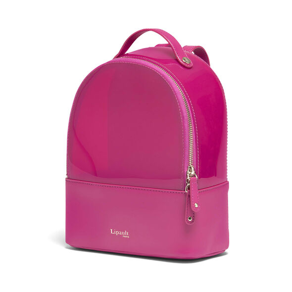 Lipault Pop 'N' Gum Backpack XS in the color Deep Fuchsia.